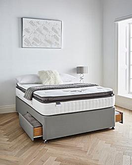Silentnight Tranquility 1000 Pocket Geltex Pillowtop Divanset with 2 Drawers