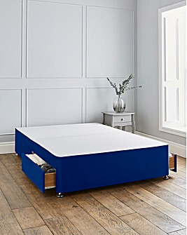 Silentnight Sanctuary 3000 Pocket Geltex Boxtop Velvet Divanset with 2 Drawers