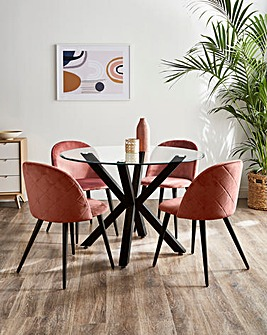 Bodie Dining Table with 4 Klara Chairs