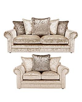 Nicolette Pillowback 3 plus 2 Seater Sofa