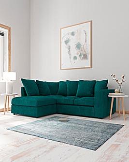 Jade Pillowback Lefthand Corner Chaise Sofa