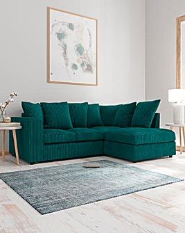 Jade Pillowback Righthand Corner Chaise Sofa