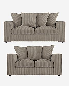 Jade Pillowback 3 plus 2 Seater Sofa