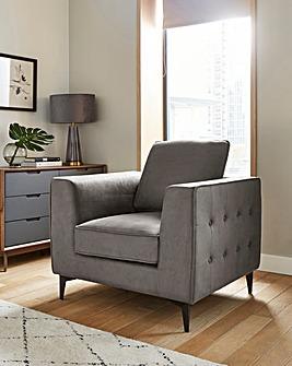 Alessia Nubuck-Effect Chair