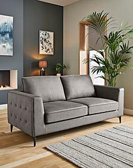 Alessia Nubuck-Effect 3 Seater Sofa