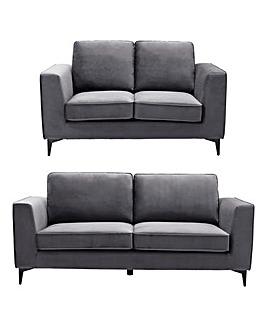 Alessia Velvet 3 plus 2 Seater Sofa
