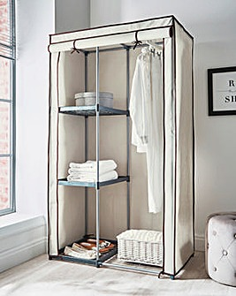 Covered Single Wardrobe with Storage