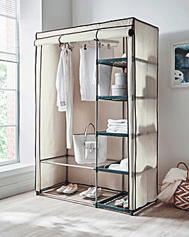 Covered Double Wardrobe with Storage