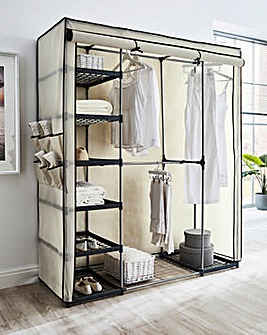 Covered Triple Wardrobe with Storage