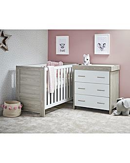 Obaby Nika Mini 2 Piece Roomset (Mini Cotbed & Dresser)