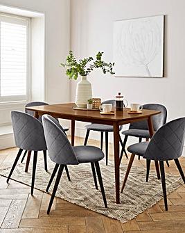 Peyton Walnut Large Rectangular Dining Table