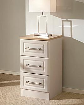Taunton Assembled 3 Drawer Bedside Table