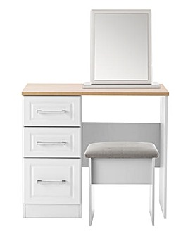 Taunton Assembled Dressing Table with Stool and Mirror