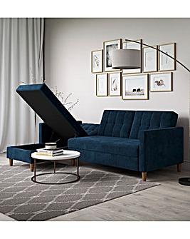 Taylor Fabric Corner Storage Sofabed