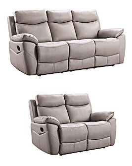Marley Leather 3 & 2 Seater Recliner