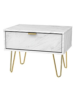 Monaco Assembled 1 Drawer Side Table