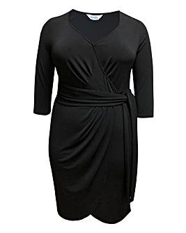 emily Isabella Jersey Curve Wrap Dress