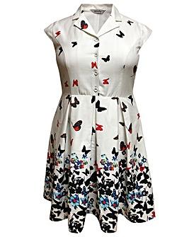 emily Taylor Retro Style Border Dress