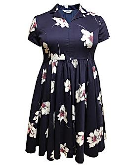 emily Samantha Retro Zip Front Dress