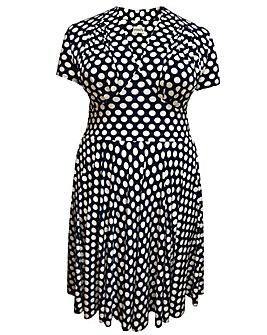 emily Dita 1940s Short Sleeve Dress