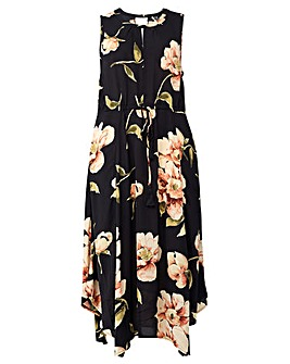 Izabel London Curve Floral Hanky Dress