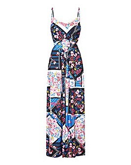 Yumi Curves Floral Scarf Print Dress