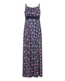 Yumi Curves Flamingo Jersey Maxi Dress