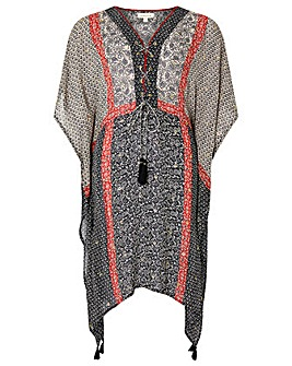 Monsoon Gwen Print Kaftan