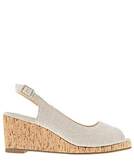 Monsoon Courtney Glitter Wedge