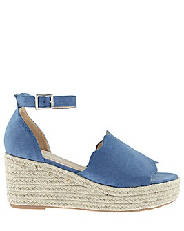 Monsoon Savannah Scallop Edge Wedge