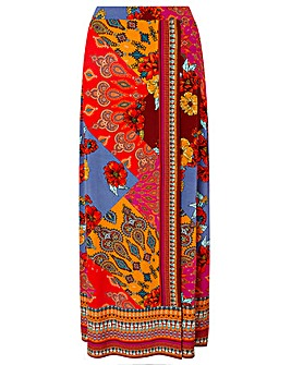 Monsoon Jolene Jersey Print Maxi Skirt