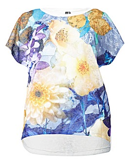 Izabel London Curve Plus Size Floral Top