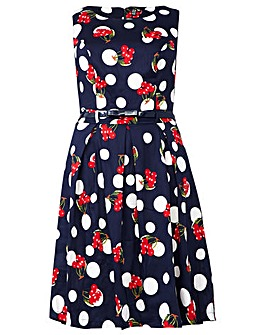 Izabel London Curve Cherry Dot Dress