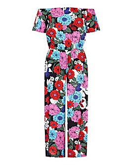 Yumi Curves Sixties Flower Jumpsuit