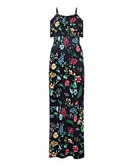 Yumi Curves Tropical Print Maxi Dress
