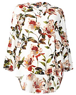 Izabel London Curve Floral Shirt Top