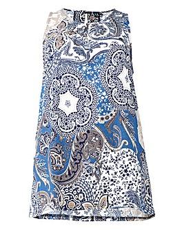 Izabel London Curve Psyched Printed Vest
