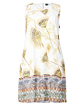 Izabel London Curve Border Shift Dress