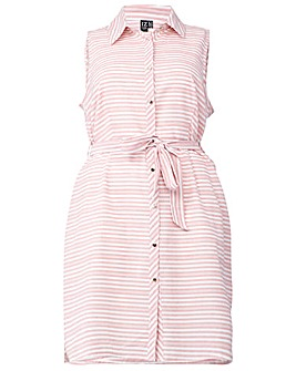 Izabel London Curve Striped Shirt Dress