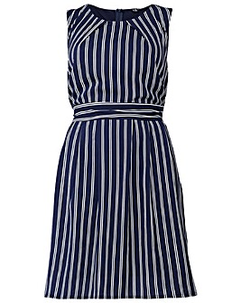 Izabel London Curve Striped Midi Dress