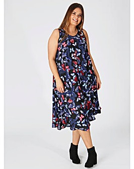 Lovedrobe GB Butterfly Print Swing Dress