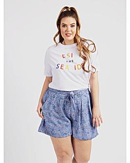 Koko Blue Floral Shorts