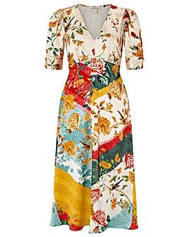 Monsoon Oana Print Tea Dress