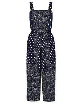 Monsoon Edie Print Crop Jumpsuit