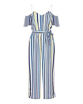 Yumi Curves Stripe Print Jumpsuit