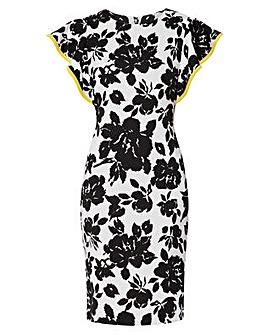 Gina Bacconi Citana Floral Scuba Dress