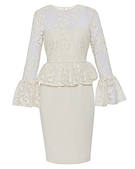 Gina Bacconi Shelly Lace And Crepe Dress