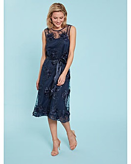 Gina Bacconi Becky Embroidered Dress
