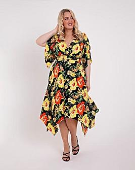 Scarlett & Jo Kimono Hanky Hem Dress