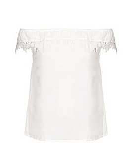 Yumi Curves Lace Bardot Top